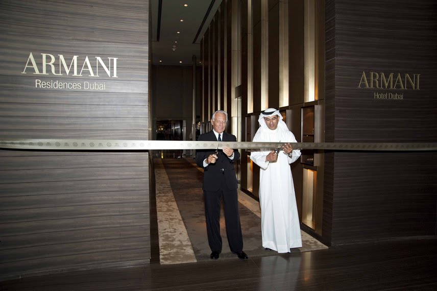 Giorgio armani beautifulpple for Armani hotel dubai design